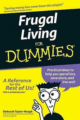 Frugal Living for Dummies by Deborah Taylor-Hough (English) Paperback Book Free