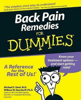 Back Pain Remedies for Dummies by Michael S. Sinel (English) Paperback Book Free