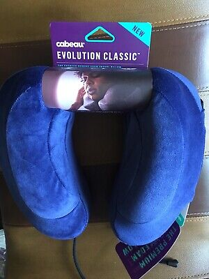 New Memory Foam Travel Neck Pillow Washable Cover Cabeau Evolution Classic Nice!