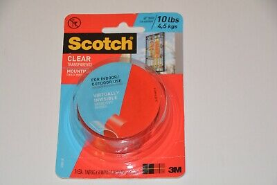 Scotch Clear Mounting Tape Indoor/Outdoor 10Lb Brand New In Package