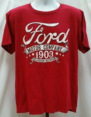Pre-owned Ford Motor Company 1903 Dearborn, Michigan Red T Shirt Size L D342