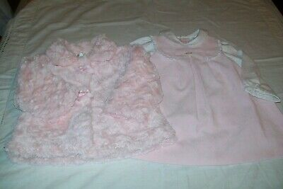 Baby girls clothes Mayoral dress & Mintini coat 12m combined postage available