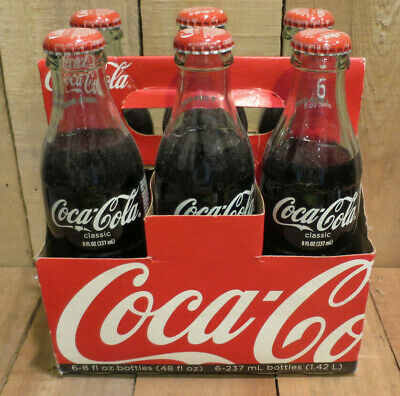 6 PK COCA COLA COMMEMORATIVE GOLD CAP BOTTLE /& CARRIER 100 YEARS IN CHATTANOOGA