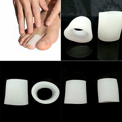 2Pcs Gel Toe Tube Separator Bunion Protector Foot Corn Blister Pain Relief OQF