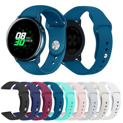 For Samsung Galaxy Watch Active Silicone Sport Strap Replacement Soft Wrist Band