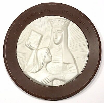 Good Saint Ann, Pray For Us, Vintage Plastic Wall Plaque