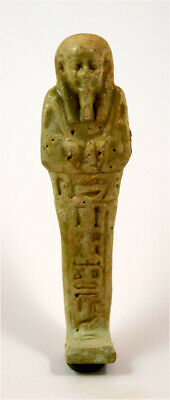 Egypt Late Period 27-30th Dynasty a glazed faience shabti