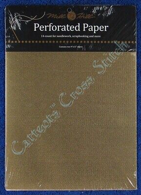 Perforated Paper for Cross Stitch Gold 14 Count Mill Hill