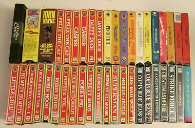 Lot of 42 Interglobal Video Movies VHS Tapes Canada Comedy Cartoon Action Scifi