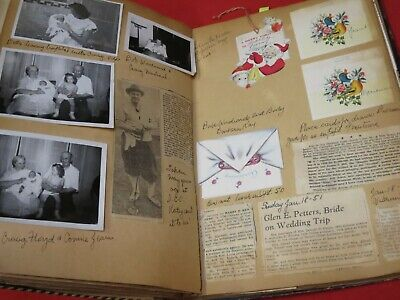 Vintage Genology Scrapbook / Kennedy, Callender, 1940S',Photos,Cards,California