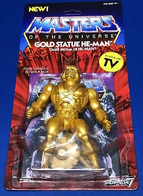 Super7 Super 7 Masters Of The Universe Vintage Gold He-Man Statue In Hand Motu