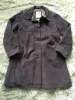 Mini Boden Girls Cordoury Navy Blue Coat Age 7-8