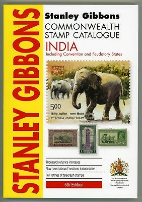 NEW India Convention and Feudatory Stamp Catalogue 5th Edition Stanley Gibbons A