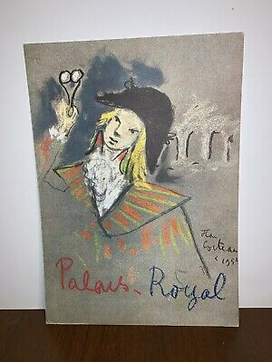 Vintage Restaurant Menu , Only The Cover, Lithograph By Jean Cocteau