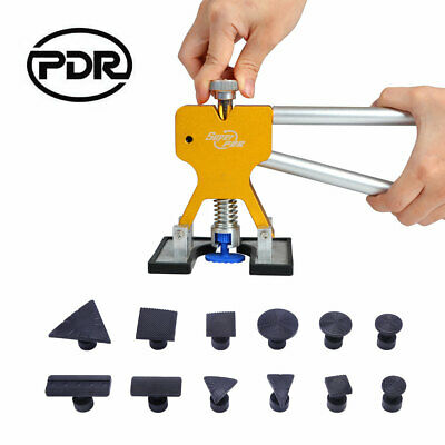 PDR Tools Car Body Paintless Puller Lifter & Glue Tabs Repair Kit Dent Removal