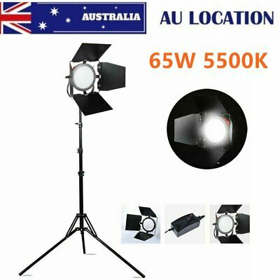 65w 5500k Photo Video Studio Continuous LED Red Head Light + Reverse Light Stand