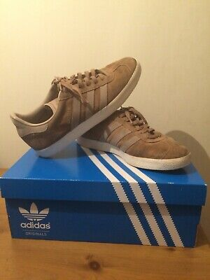 Adidas Originals Mens Gazelle Fashion Trainers Beige Size UK 7
