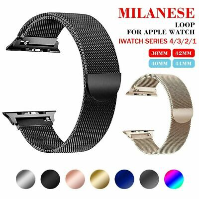 Magnetic Milanese Loop Wristwatch Strap Band For Apple Watch Series 5 4 38-44mm