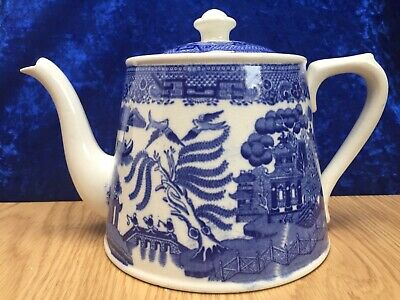 Antique English, Willow Teapot for HG Stephenson, Barton Arcade Manchester c1900