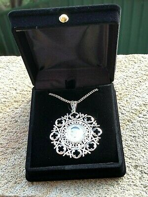 Solid Sterling Silver Medallion - 1931 Three Pence & Chain
