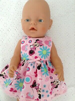"""Handmade Dolls clothes ~ 43cm Baby Born ~ 16"""" CPK ~ Pink Minnie Mouse dress"""