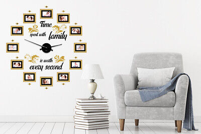 Walplus Family Time Classic Photo Frames Clock Art Decals Home Hotel Decoration