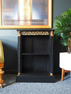 Antique Regency Style Egyptian Revival Ebonized Bookcase UK DELIVERY AVAILABLE