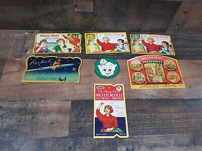 Vintage Advertising Sewing Needles Books, Lot Of 7 Sewing Susan Piggly Wiggly