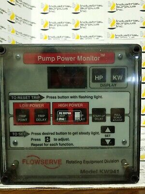 Flowserve KW941 Pump Power Monitor *FREE SHIPPING*