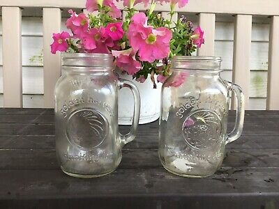 2 Ball Mason Jar LargeHandle Mugs Rustic Wedding Redneck DrinkingGlasses County