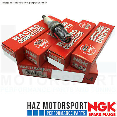 NGK Racing Competition x4 Angled Ground Strap Spark Plug 9 For Audi TTS Mk3