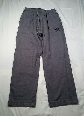 Adidas Pants Sweat Trefoil Grey Athletic Track Basketball Men's Size Small