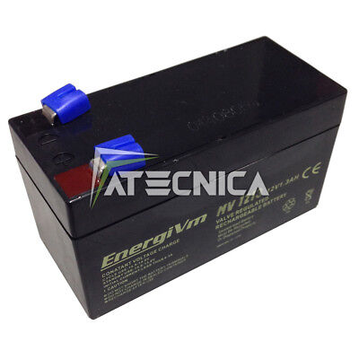 Lead-Acid Rechargeable Battery 12 12V 1 1,3Ah Batteries x Security Automation
