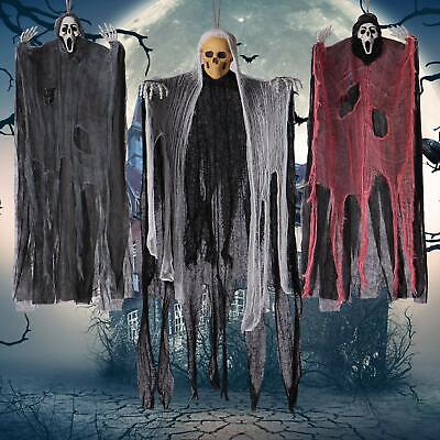Halloween Decorations 3 Creepy Scary Hanging Skeleton Ghosts Outdoor Yard Decor