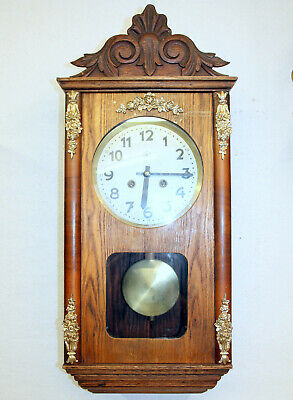 Antique Wall Clock Chime Clock Regulator 1920th century with 3 hammer