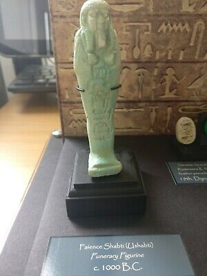 Genuine Egyptian Faience Shabti (Ushabti) Figurinec.1000bc