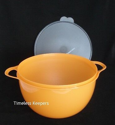 FREE SHIP Tupperware THATSA MEGA BOWL 42 Cup/ 10 Liter Popcorn Serve NEW Orange