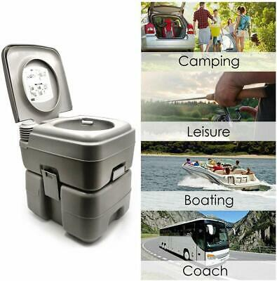 HTTMT- 5 Gallon 20L Portable Toilet Flush Travel Camping Outdoor/Indoor Potty Co