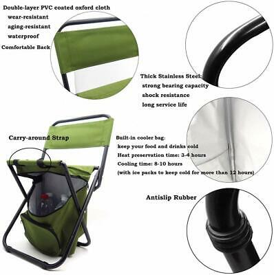 HTTMT- Backrest Fishing Chair PVC Water Resistant Portable Folding With Ice Ther