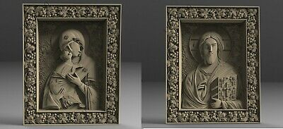 3D STL Model # Saint Pair Maria and Jesus # for CNC Engraver Carving Aspire