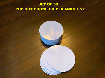 """1.57"""" Sublimation Circle Blanks Perfect for PHONE GRIPS - Lot of 50"""