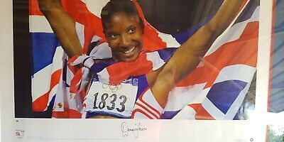 Original Framed Denis Lewis Signed Print Sydney Olympic 2000 Gold UK