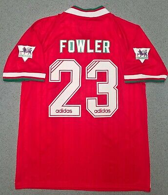 Liverpool F.C 1993 1994 1995 Retro Football Shirt Home Jersey FOWLER #23 - M L