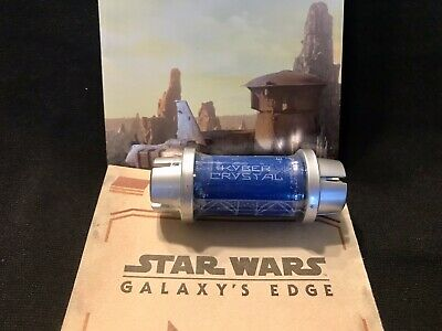 Disney Star Wars Galaxy's Edge Kyber Crystal BLUE Lightsaber Holocron Sealed