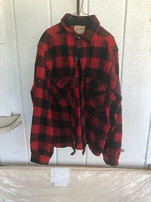 VINTAGE FROSTPROOF 60s 70s WOOL PLAID HUNTING JACKET 100%WOOL . CHILDS SIZE 14.5