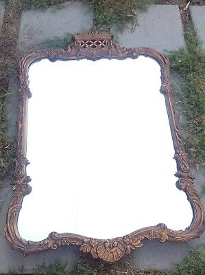 """Antique Mirror With Wooden Framed and Resin Designed Cover 42"""""""