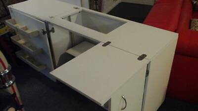 Horn Folding Sewing Cabinet on Casters