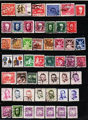 Czechoslovakia 82 Different Used Stamps Collection Lot #26