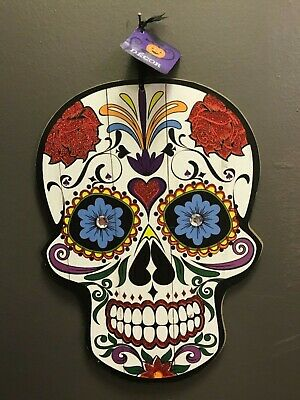 Halloween Hanging Door Wall Decor SUGAR SKULL Sleleton Witch Jack O' Lantern