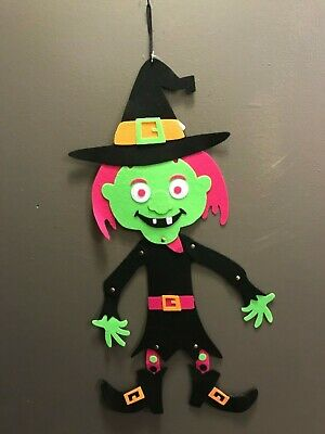 Halloween Felt Hanging Door Wall Decor Skull Sleleton Witch Vampire Dracula 23""